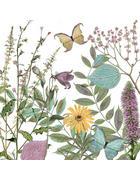 Serviette - Multicolor, Natur, Papier (33cm)