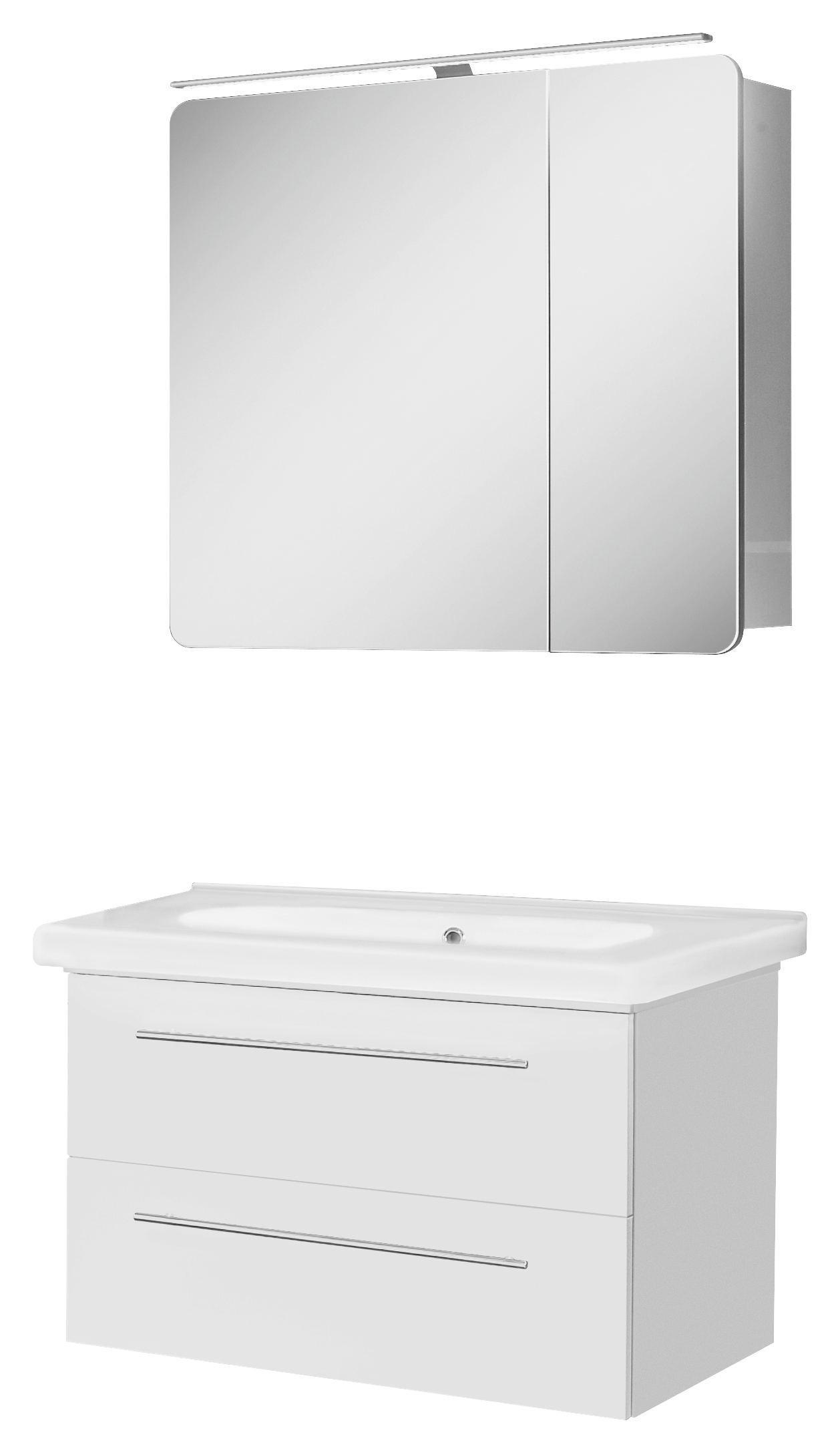 BADEZIMMER Weiß   Weiß, Design (81,4cm)   WELNOVA