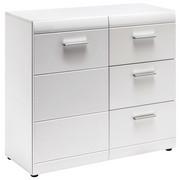 SIDEBOARD in Weiß - Silberfarben/Weiß, Design, Holzwerkstoff/Kunststoff (96/86/40cm) - XORA