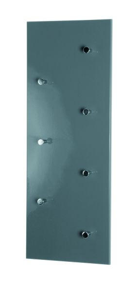 VJEŠALICA ZIDNA - siva/boje kroma, Design, drvo/metal (80/30/5,5cm) - BOXXX