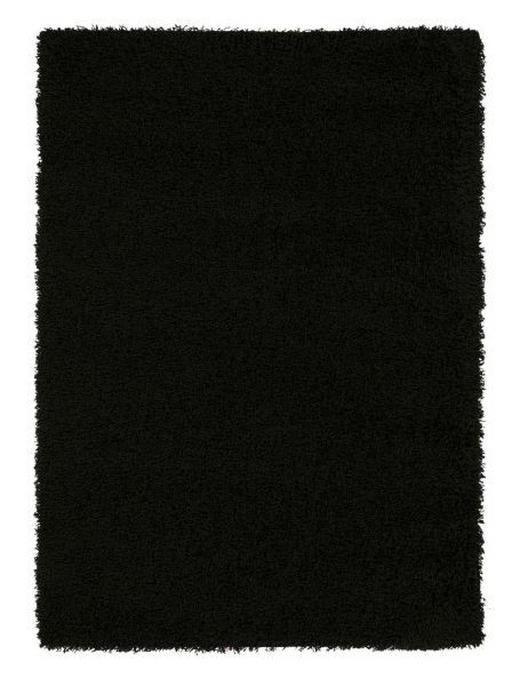 HOCHFLORTEPPICH  65/130 cm  gewebt  Schwarz - Schwarz, LIFESTYLE, Textil (65/130cm) - Novel