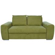 ZOFA S POSTELJNO FUNKCIJO  zelena tekstil - zelena/krom, Design, kovina/tekstil (199/92/97cm) - Hom`in