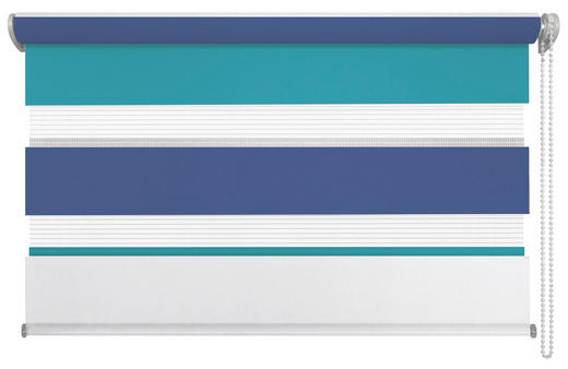 DUOROLLO  halbtransparent   60/160 cm - Blau/Dunkelblau, Basics, Textil (60/160cm)