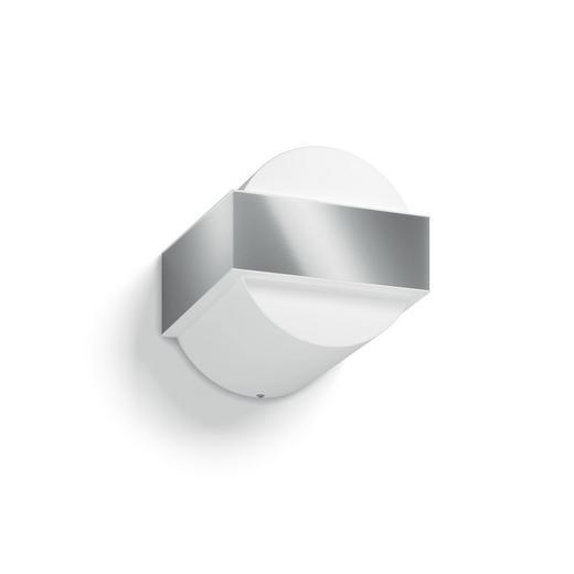 MYGARDEN AUßENWANDLEUCHTE Edelstahlfarben, Weiß - Edelstahlfarben/Weiß, Design, Kunststoff/Metall (14,7/14,0/15,5cm) - Philips