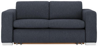SCHLAFSOFA in Textil Blau  - Blau/Silberfarben, KONVENTIONELL, Kunststoff/Textil (190/83/98cm) - Carryhome