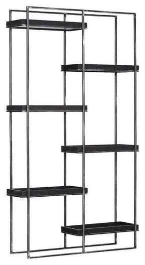 HYLLA - svart, Design, metall/trä (107/190/30cm) - Carryhome