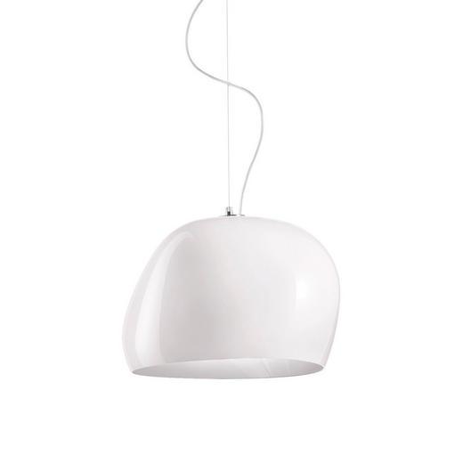 HÄNGELEUCHTE - Weiß, Design, Glas (40/26cm)