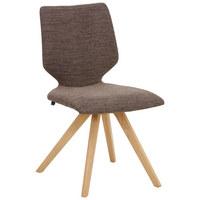 STUHL in Holz, Textil Braun, Eichefarben - Eichefarben/Braun, Design, Holz/Textil (51/89/61cm) - Venjakob