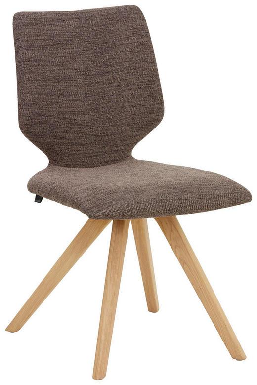 STUHL in Holz, Textil Braun, Eichefarben - Eichefarben/Braun, Design, Holz/Textil (51 89 61cm) - Venjakob