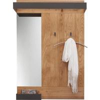 GARDEROBENPANEEL 90/134/35 cm - Eichefarben/Anthrazit, Natur, Glas/Holz (90/134/35cm) - Valnatura