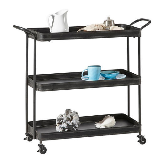 BARWAGEN in - Schwarz, Design, Metall (99/85/36,5cm) - Ambia Home