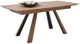 ESSTISCH Kerneiche vollmassiv rechteckig Anthrazit, Eichefarben  - Eichefarben/Anthrazit, Design, Holz/Metall (190-290/90/76cm) - Valnatura