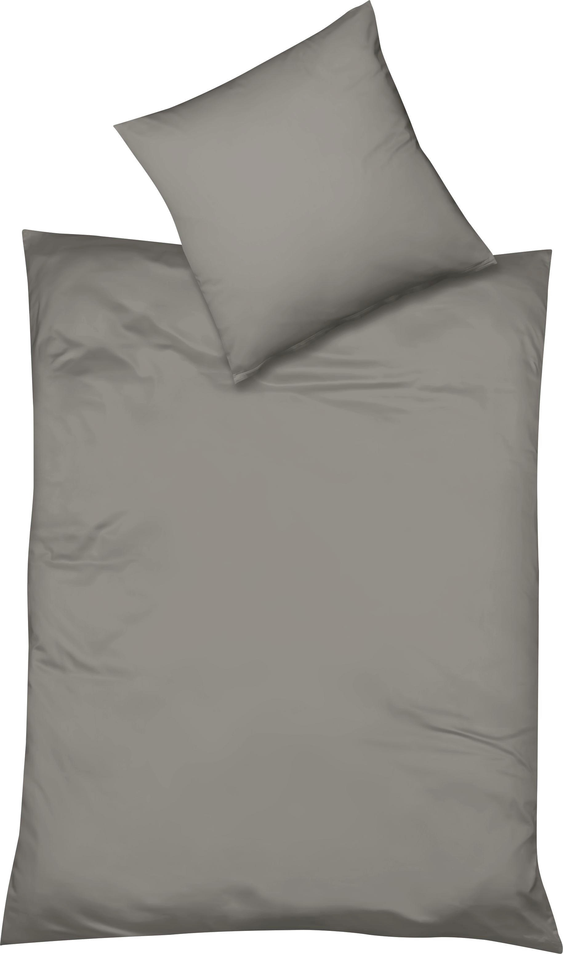 BETTWÄSCHE Makosatin Silberfarben 135/200 cm - Silberfarben, Textil (135/200cm) - FLEURESSE