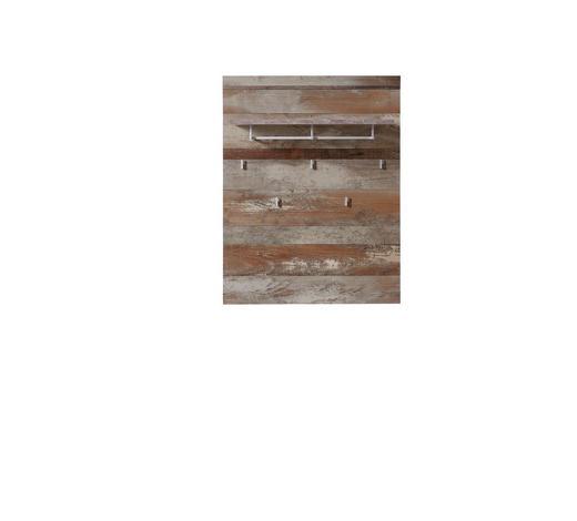 GARDEROBENPANEEL 90/116/30 cm - Naturfarben, LIFESTYLE, Holzwerkstoff/Metall (90/116/30cm) - Hom`in
