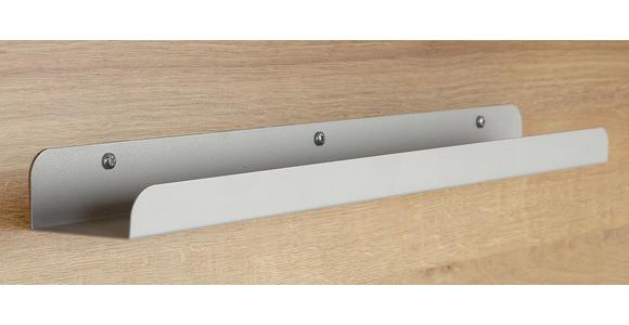 SCHREIBTISCH - Eichefarben/Nickelfarben, Design, Holzwerkstoff/Metall (180/76/76cm) - Voleo