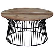 KONFERENČNÍ STOLEK - černá/barvy akácie, Design, kov/dřevo (85 85 43cm) - Carryhome