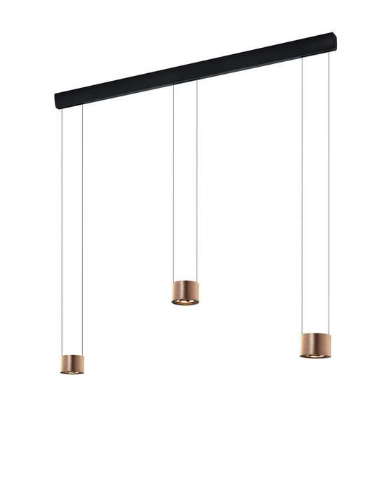 HÄNGELEUCHTE - Goldfarben/Rosa, Design, Metall (120/150cm) - Bankamp