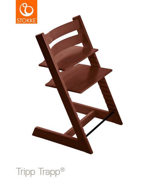 Tripp Trapp Hochstuhl Buche Hartholz, massiv Walnut Brown - Dunkelbraun, Basics, Holz (46/79/49cm) - Stokke