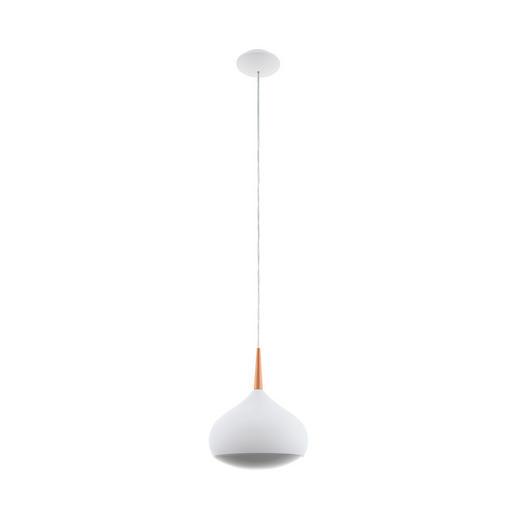 LED-HÄNGELEUCHTE - Weiß/Kupferfarben, Design, Kunststoff/Metall (29/150cm)