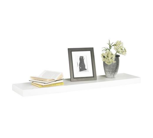 NÁSTĚNNÁ POLICE, bílá - bílá, Design, kov/kompozitní dřevo (110/5/25cm) - Boxxx
