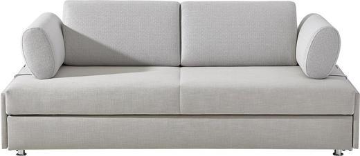 SCHLAFSOFA Beige - Chromfarben/Beige, Design, Textil/Metall (212/44/100cm) - Bali