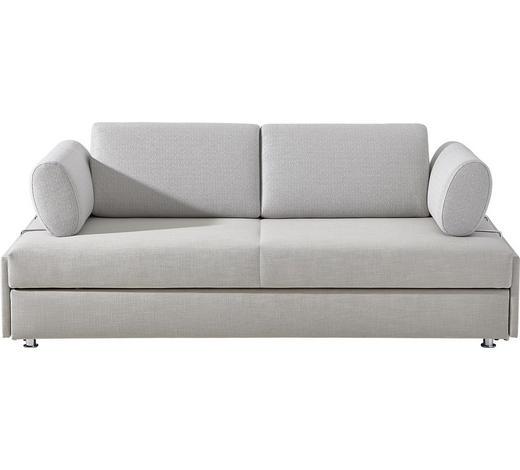 SCHLAFSOFA in Textil Beige - Chromfarben/Beige, Design, Textil/Metall (212/84/100cm) - Bali