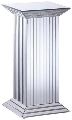 PIEDESTAL - silver, Design, glas/träbaserade material (30,5/60/30,5cm) - Xora