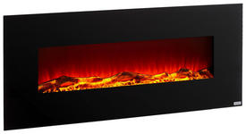 ELEKTROKAMIN Metall, Kunststoff, Glas  - Schwarz, Design, Glas/Kunststoff (128/55/14cm) - Xora