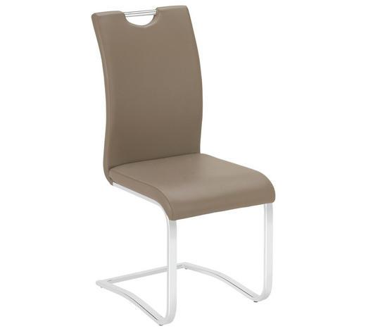 SCHWINGSTUHL in Metall, Textil Braun, Chromfarben - Chromfarben/Braun, Design, Textil/Metall (42/102/55cm) - Carryhome