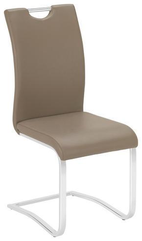 SVIKTSTOL - brun/kromfärg, Design, metall/textil (42/102/55cm) - Carryhome
