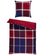 BETTWÄSCHE Satin Blau, Lila, Rot, Weiß 135/200 cm - Blau/Lila, KONVENTIONELL, Textil (135/200cm) - Tom Tailor