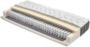 Taschenfederkernmatratze Timber 90x200cm H2/H3 - Weiß, Textil (90/200cm) - Primatex