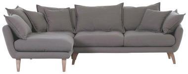 WOHNLANDSCHAFT in Textil Taupe  - Taupe/Naturfarben, Design, Holz/Textil (267/170cm) - Carryhome