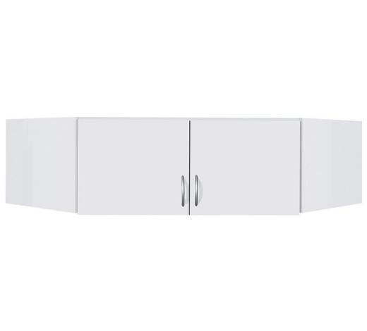 AUFSATZSCHRANK 120/39/54 cm Weiß  - Silberfarben/Weiß, Design, Kunststoff (120/39/54cm) - Carryhome