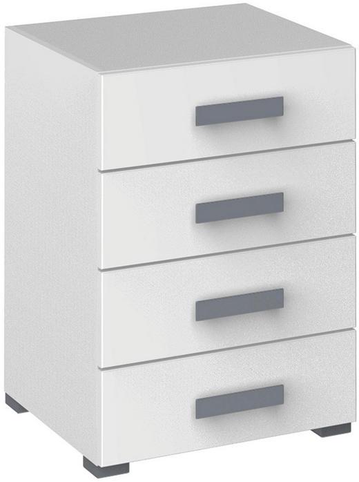 KOMMODE 50/73/70/44 cm - Silberfarben/Weiß, Design, Holzwerkstoff/Kunststoff (50/73/70/44cm) - Xora