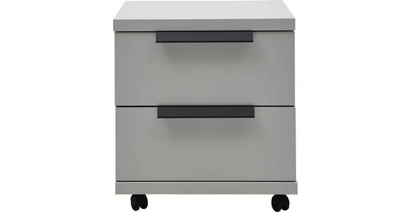 ROLLCONTAINER - Graphitfarben/Schwarz, KONVENTIONELL, Holzwerkstoff/Kunststoff (48/52/42cm) - Voleo