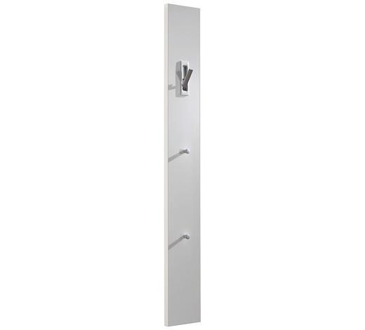 GARDEROBENPANEEL 15/120/2.5 cm  - Weiß, Design, Holzwerkstoff (15/120/2.5cm)