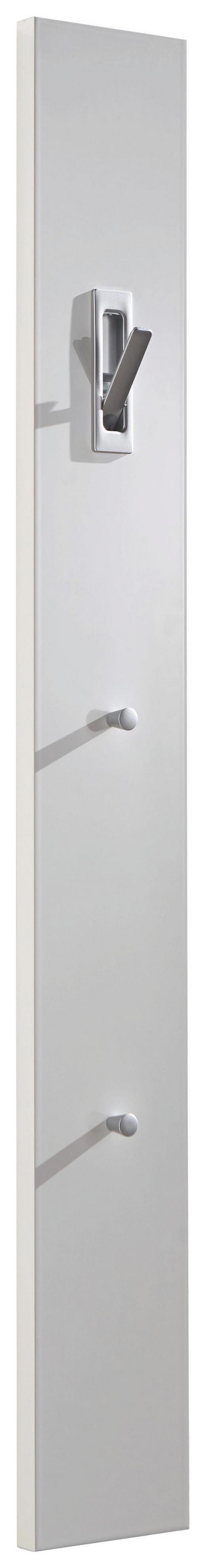 GARDEROBENPANEEL Hochglanz, Melamin Weiß - Weiß, Design (15/120/2.5cm)
