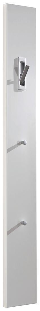 ŠATNÍ PANEL - bílá, Design, dřevěný materiál (15/120/2.5cm)