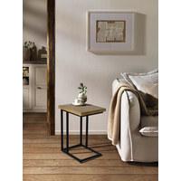 ODKLÁDACÍ STOLEK, dřevo, kov, recyklované dřevo, jilm, masivní, přírodní barvy, černá - černá/přírodní barvy, Trend, kov/dřevo (35/45/60cm) - Landscape