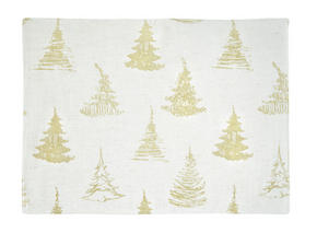 BORDSTABLETT - guldfärgad, Klassisk, textil (33/45cm) - X-Mas