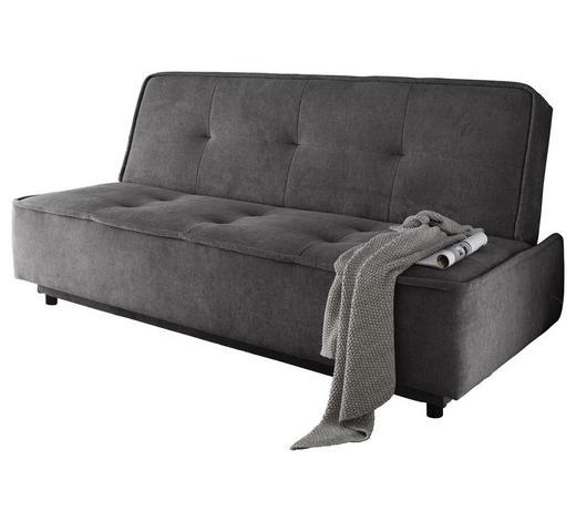 SCHLAFSOFA Dunkelgrau - Dunkelgrau/Schwarz, MODERN, Kunststoff/Textil (206/95/95cm) - Carryhome