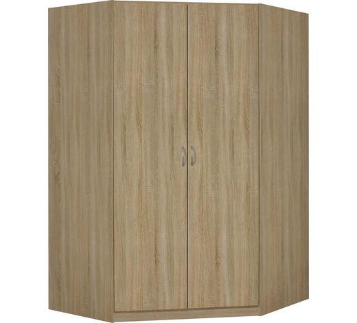 ROHOVÁ SKŘÍŇ, Sonoma dub - Sonoma dub/barvy hliníku, Konvenční, kompozitní dřevo/umělá hmota (117/117cm)