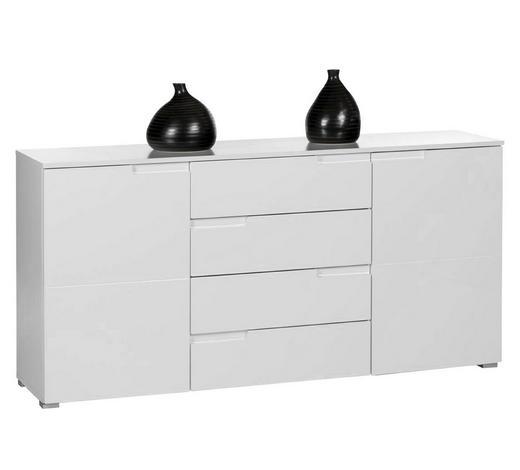 SIDEBOARD Hochglanz Weiß  - Silberfarben/Weiß, Design, Holzwerkstoff/Kunststoff (165/80/40cm) - Carryhome
