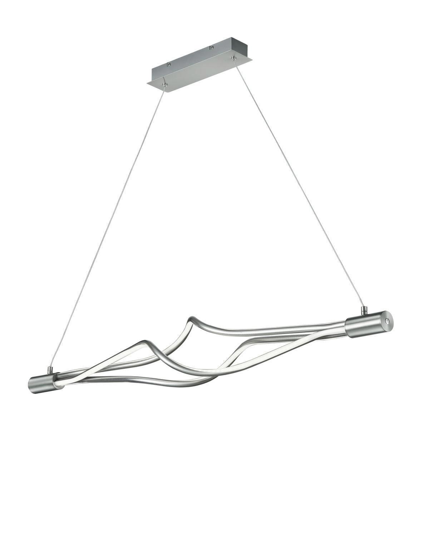 LED-HÄNGELEUCHTE - Nickelfarben, MODERN, Metall (117/150/15cm)