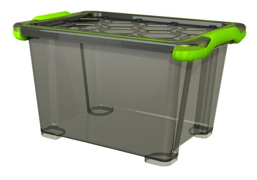 BOX MIT DECKEL - Anthrazit, KONVENTIONELL, Kunststoff (39,3/28,3/23cm) - Rotho