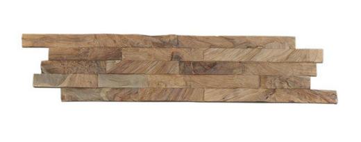 WANDVERKLEIDUNG - Teakfarben, Holz (55,2 cm/18,4 cm/1-2cm)