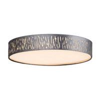 Led-deckenleuchte - Silberfarben, Design, Textil/Metall (40/10,5cm)
