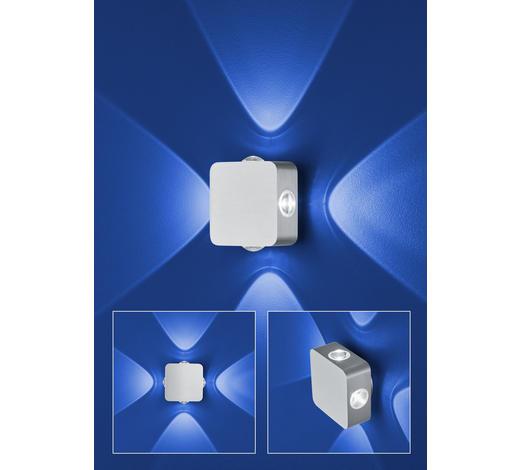 LED-WANDLEUCHTE   - Alufarben, Design, Metall (12/12/7cm)