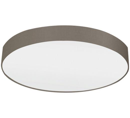 STROPNÍ SVÍTIDLO - bílá/šedohnědá, Design, kov/textil (76/15cm)